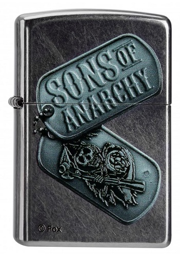 zippo sons of anarchy original feuerzeug 97140 bei. Black Bedroom Furniture Sets. Home Design Ideas