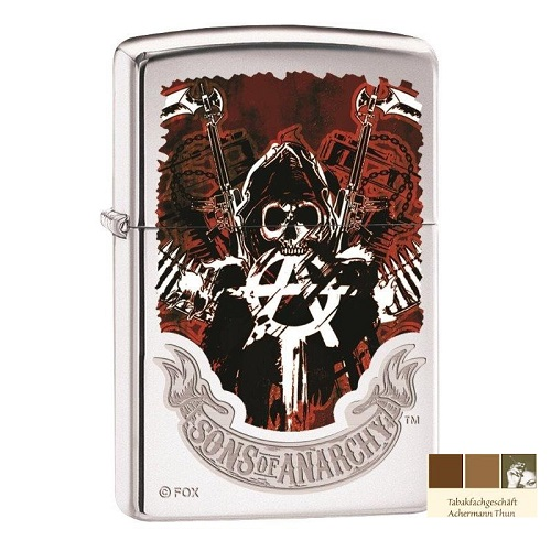 zippo sons of anarchy original feuerzeug 101259 bei. Black Bedroom Furniture Sets. Home Design Ideas
