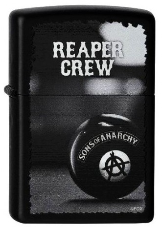 zippo sons of anarchy original feuerzeug bei. Black Bedroom Furniture Sets. Home Design Ideas