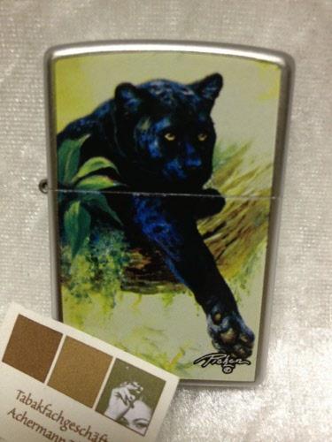 zippo black panther original feuerzeug bei tabakachermann. Black Bedroom Furniture Sets. Home Design Ideas
